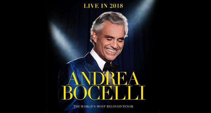 Andrea Bocelli @ The O2 arena   2 Nov – 3 Nov 2018