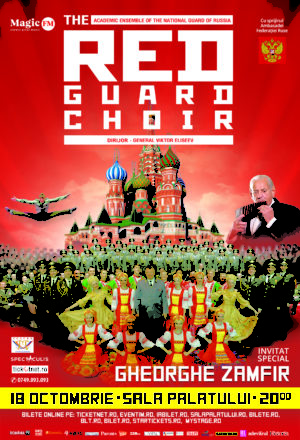 THE RED GUARD CHOIR (Red Army Choir MVD) REVINE PE SCENELE DIN ROMÂNIA