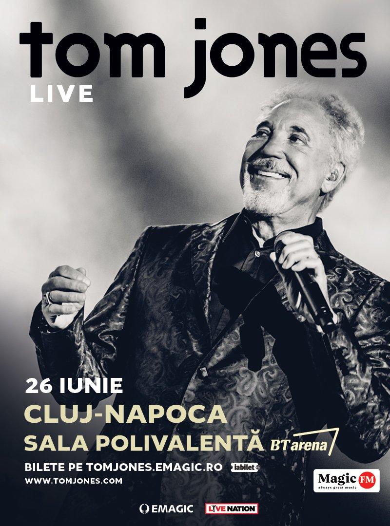 Concert Tom Jones la Cluj-Napoca in 2019