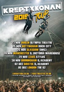 KREPT & KONAN ANNOUNCE 2019 UK & IRELAND TOUR