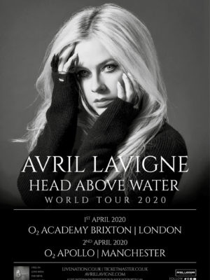 "AvrilLavigne ""Head Above Water""2020 world tour!"