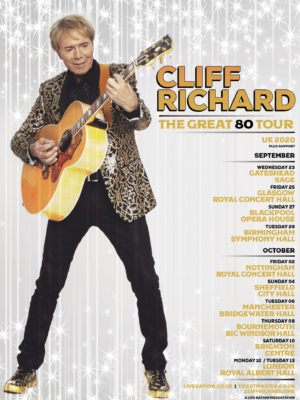 "CLIFF RICHARD ""THE GREAT 80 TOUR"" U.K. DATES FOR 2020"